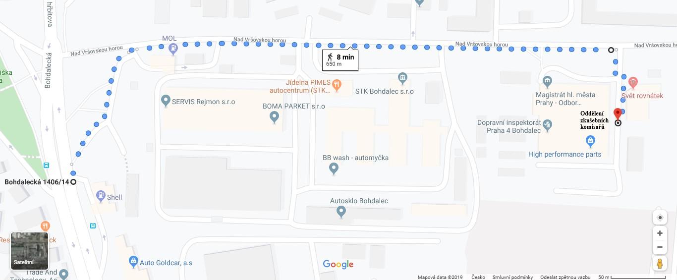 Oddělení zkušbních komisařů - Praha Bohdalec